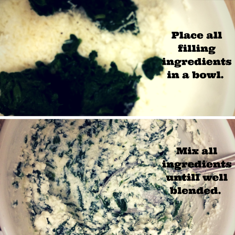 Spinach and ricotta filling
